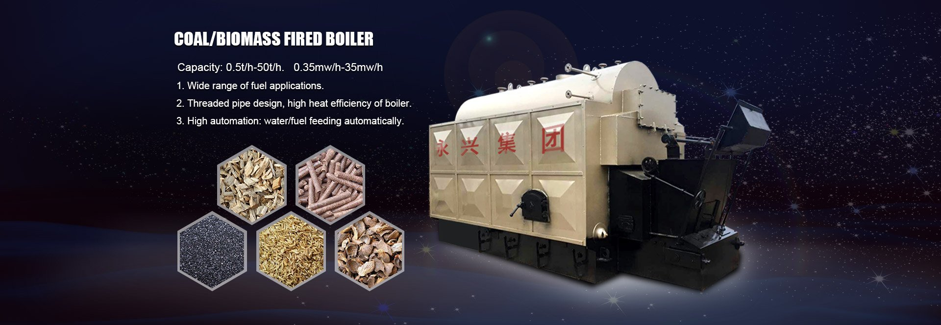 Coal/Biomass Fired Boiler