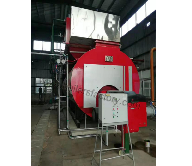 10t/h gas fired low nitrogen steam boiler is finished with installation