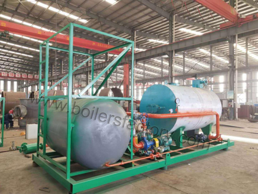 1.2million kcal/h gas fired thermal oil heater is finished installation in our workshop