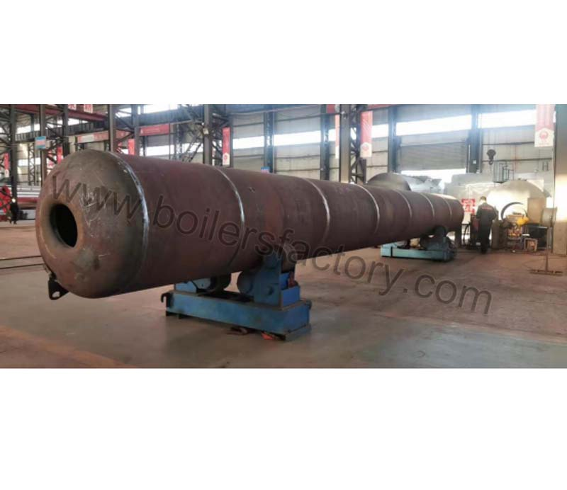 The welding site of 40t/h coal fired boiler drum