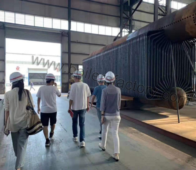 Customers from Cambodia visit and sign contract for 40t/h boiler